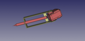 1 - CAD pen support assembly